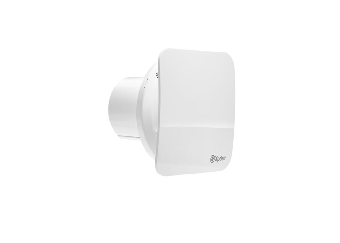 """4"""" Square Simply Silent Contour Extractor Fan with Humidistat & Timer in Cool White - 1"""