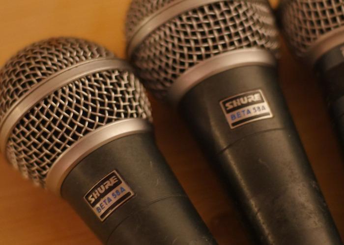 4 x  Dynamic Supercardioid Microphones/Beta 58A Clones + XLR - 2