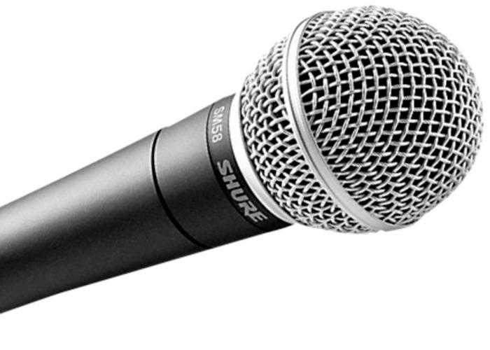 4 x Shure SM58 Microphones - 2