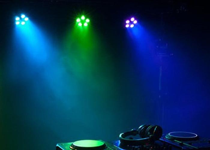 4 X Sound Active 12W LED Club Par Lights (4 Available)  - 1