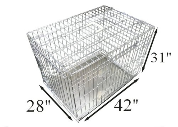 """42"""" Ellie-Bo Dog Puppy Cage Folding Crate with Divider - 1"""
