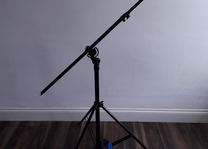 4m Heavy Duty Photo Studio 2in1 Boom Arm LightStand+ 2x bags - 2