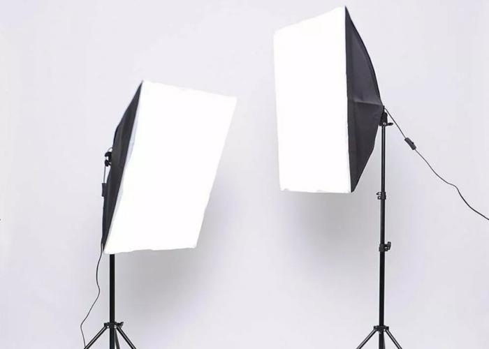 2x 25W LED Softbox Photography Studio Light Stand - 2
