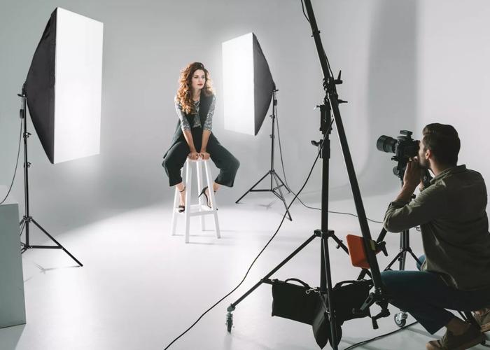 2x 25W LED Softbox Photography Studio Light Stand - 1