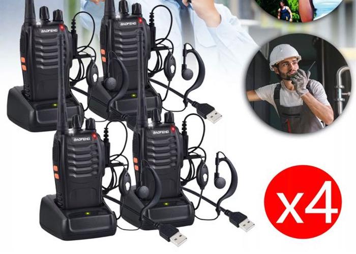4x BaoFeng 888S Two Way Radios USB Walkie Talkies - 1