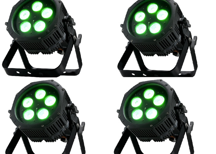 4x Battery Powered Uplight | Wash Light | WiFly DMX | IP65 | Stage Light | DJ Light | Party Light | Professional Light | Event Light | Outdoor, Indoor, Waterproof - 1