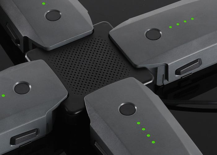 4x DJI mavic pro batteries / battery / 4port charger  - 1