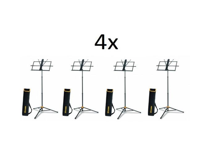 4x Hercules BS118BB Music Stand with Folding Desk , EZ Grip - 1