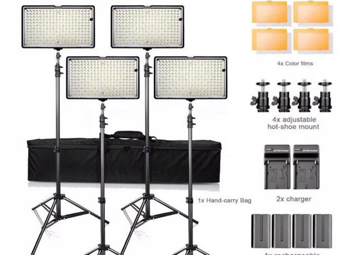 4X LED Video lights - 1