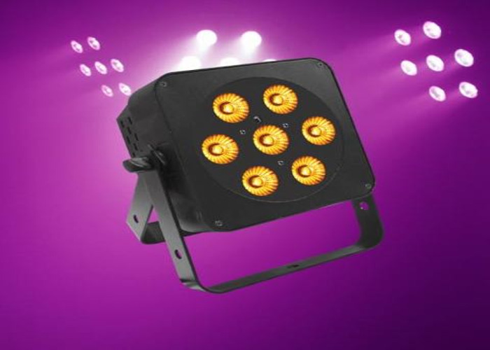 "4x RGBA led Uplight / stage light ""LEDJ Slimline 7Q5, party - 1"