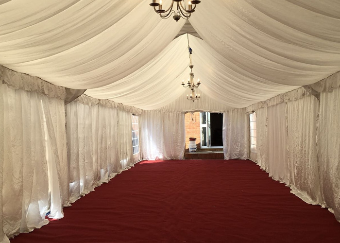 4x12m Marquee With Basic Lining - 1