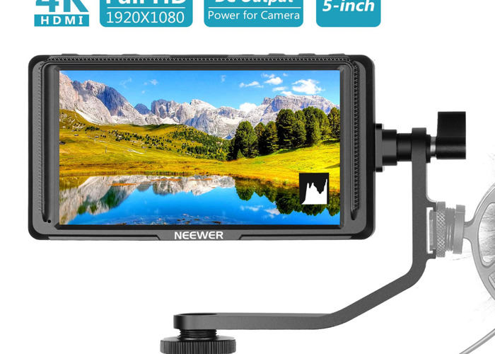 5 Inch Field Monitor 1920x1080IPS (2 Batteries Included) - 2