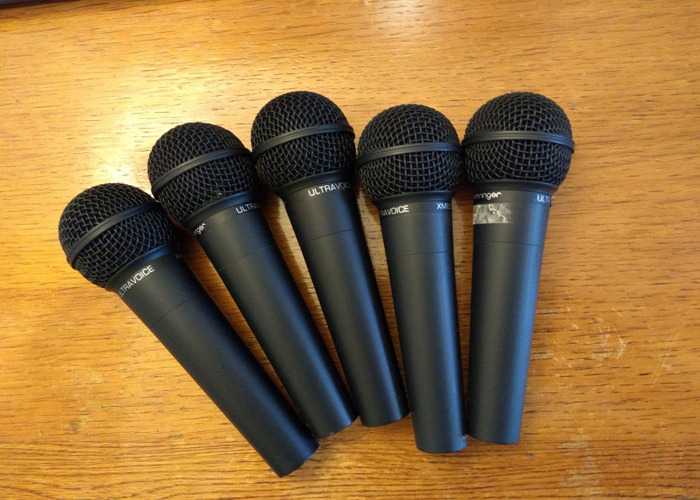 5 x Behringer XM8500 Ultravoice Dynamic Vocal Microphones - 1