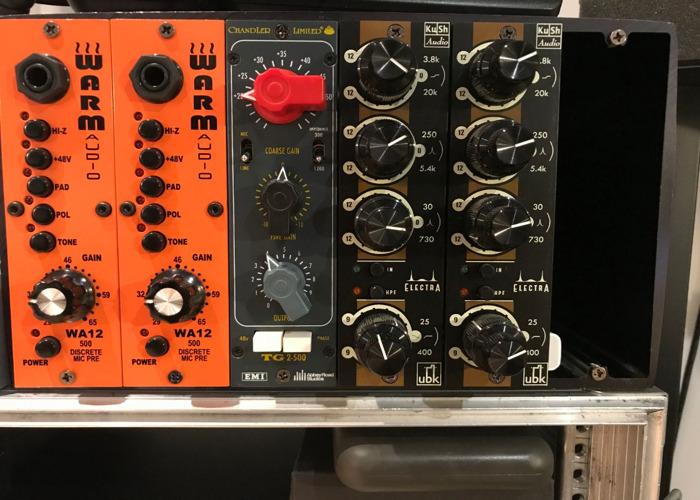 500 Series rack with Pre s & EQs (Chandler, Kush, Warm Audio) - 1