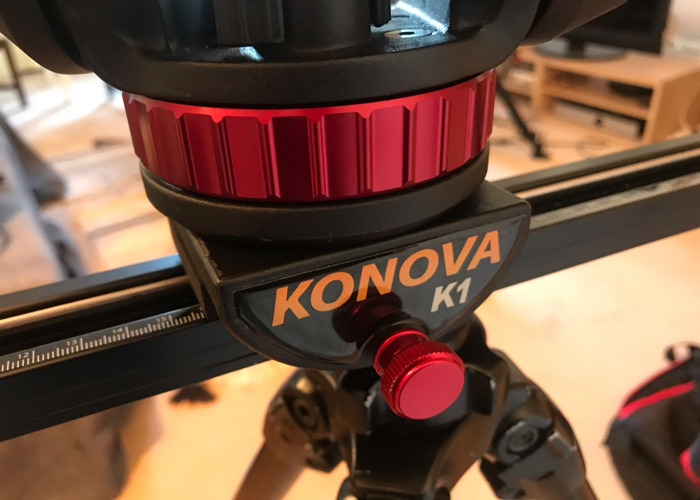 50cm Konova K1 slider + fluid head + tripod  - 2