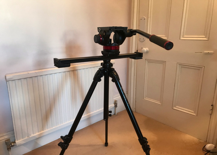 50cm Konova K1 slider + fluid head + tripod  - 1