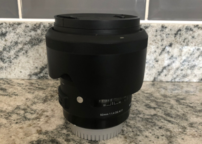 50mmm 1.4/f Sigma Art lens For Canon - 1