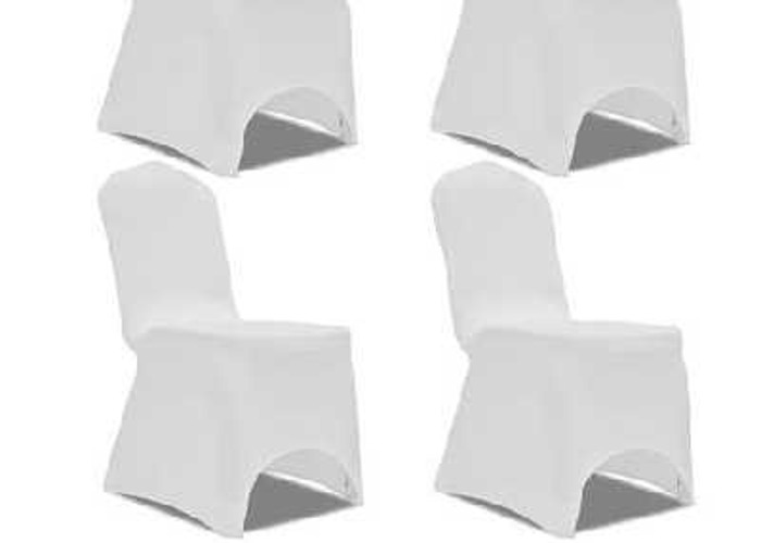 50p White Chair Cover Hire - 2