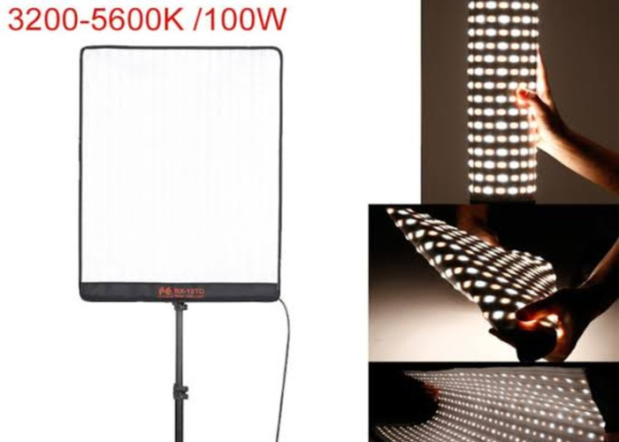 50W 2 foot by 1 foot Bi-Colour Flexible LED panel - 1
