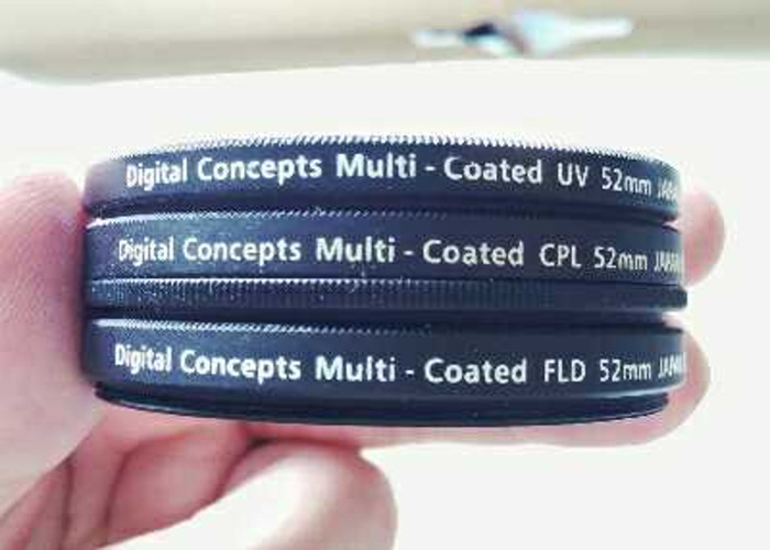 52mm filter lenses (UV, FLD, CPL) - 1