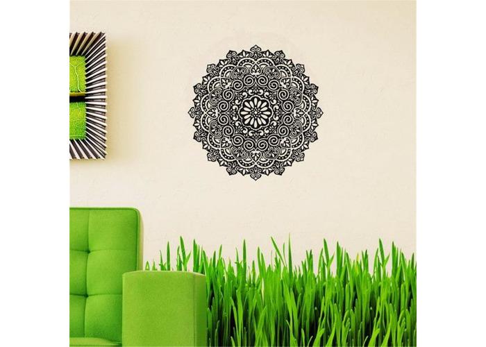 59X59CM Removable Mandala Flower Wall Stickers Vinyl Mandala Pattern PVC Wall Stickers - 1