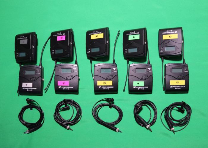 5x Sennheiser G3 Wireless Lapel Microphone (XLR & jack) kit in PELI case - 2