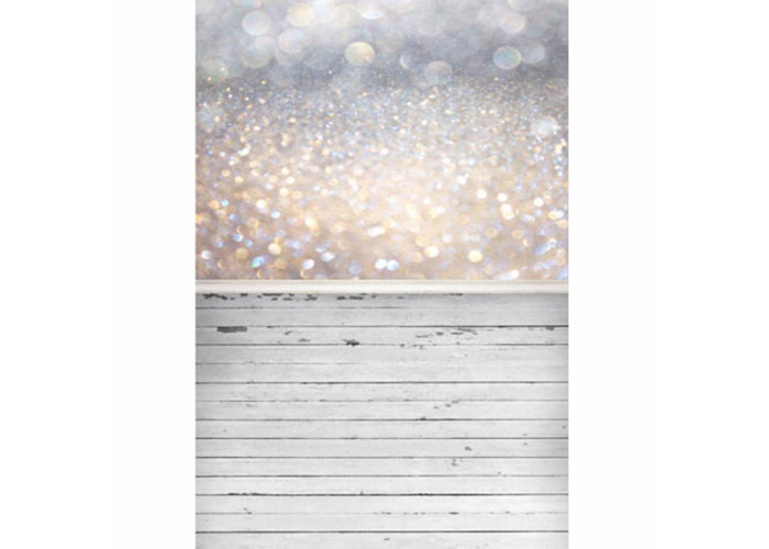 5x7ft Bokeh Glitter Wood Photography Vinyl Backdrop Studio Background 2.1m x 1.5m - 2