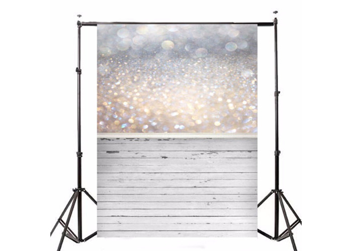 5x7ft Bokeh Glitter Wood Photography Vinyl Backdrop Studio Background 2.1m x 1.5m - 1