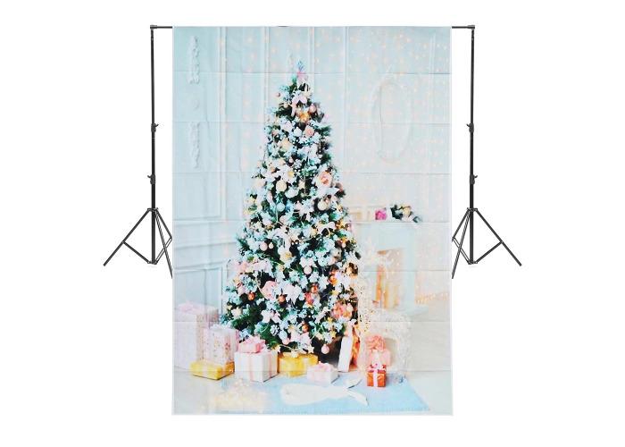 5x7ft Christmas Tree Gift Photography Backdrop Studio Prop Background - 1