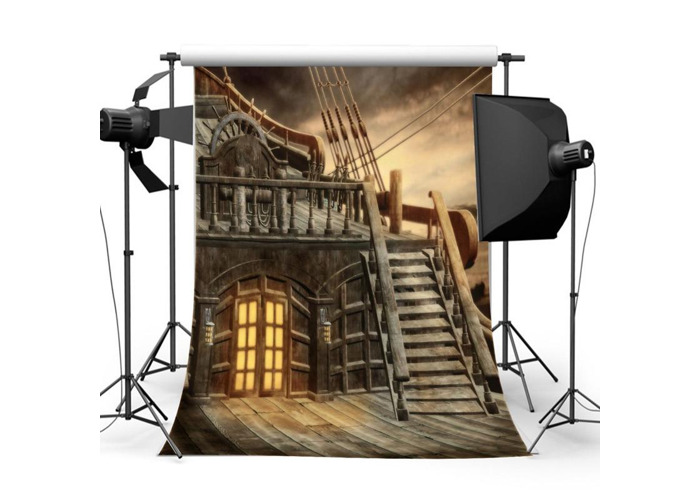 5X7FT Pirate Ship Photography Backdrop Studio Ancient Photo Background Props - 2