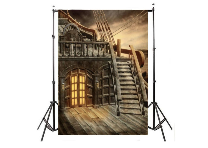 5X7FT Pirate Ship Photography Backdrop Studio Ancient Photo Background Props - 1