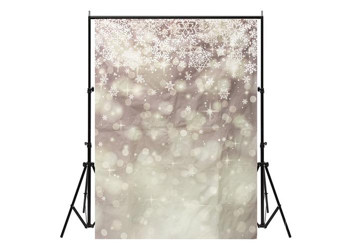 5x7ft Vinyl Christmas Snow Photography Backdrop Background Studio Photo Props - 1