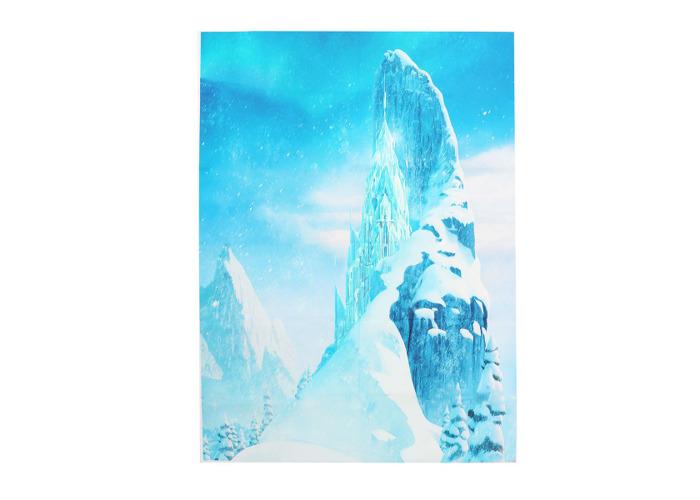 5x7FT Vinyl Glacier Blue Photography Backdrop Background Studio Prop - 2