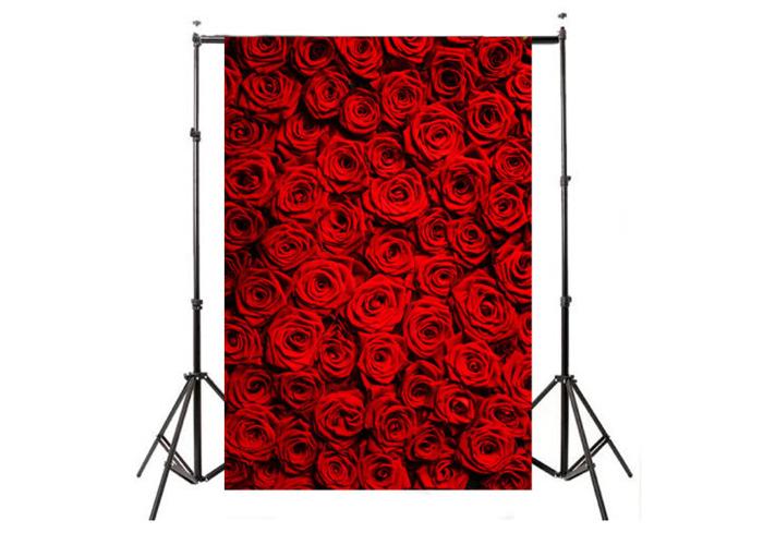5x7ft Vinyl Valentine's Day Red Rose Photography Background Photo Studio Prop Backdrop - 1