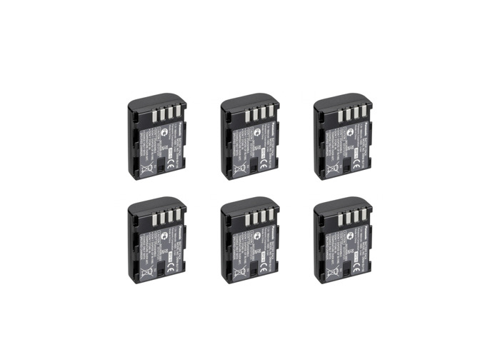 6 x Gh5 Gh5S Batteries. DMW-BLF19E with dual charger. - 1