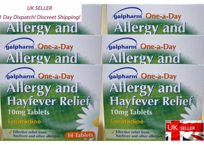 6 X1 Galpharm One-a-Day Allergy and Hayfever Relief 10mg  14 Tablets - 1