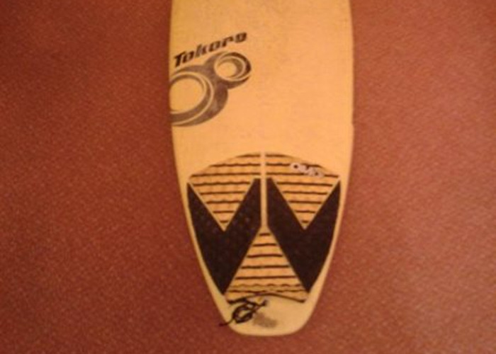 6'0 Epoxy Surfboard with FCS Fins and Leash - 2