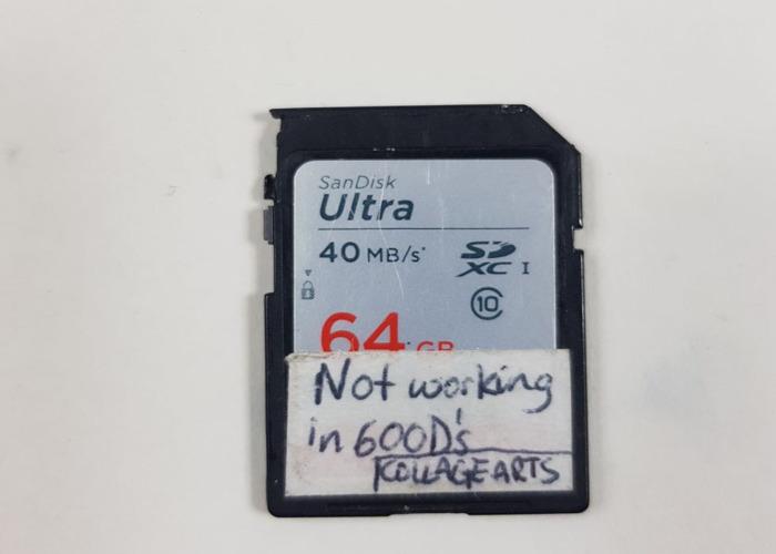 64GB SD Card 40mb/s - 1