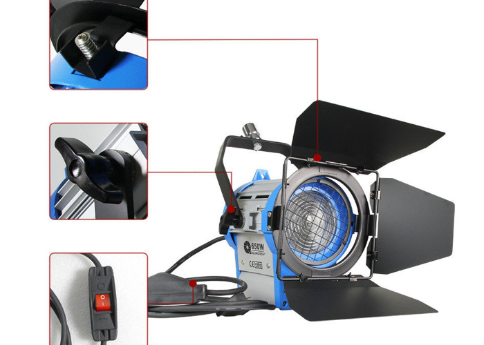 650w Tungsten Fresnel, LED Panel + 2x2m Stands - 1
