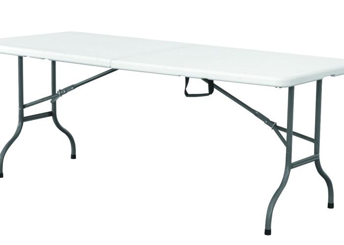 6FT Plastic Folding Trestle Table - 1