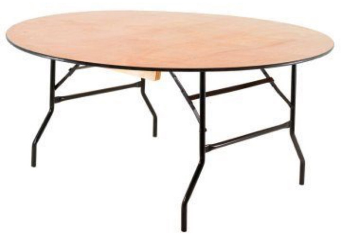 6ft round trestle tables (set of 4) - 1