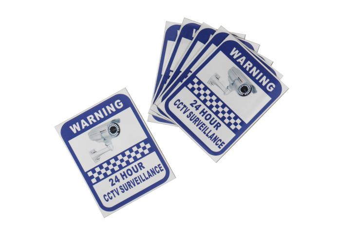 CCTV Security Camera System Warning Sign Sticker Decal Surveillance 200mmx250mm
