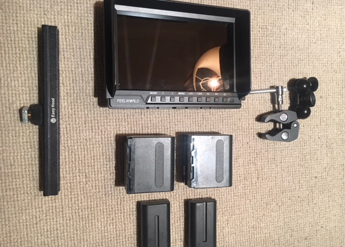 """7"""" Full HD Monitor-HDMI Connection, x4 Batteries - 1"""