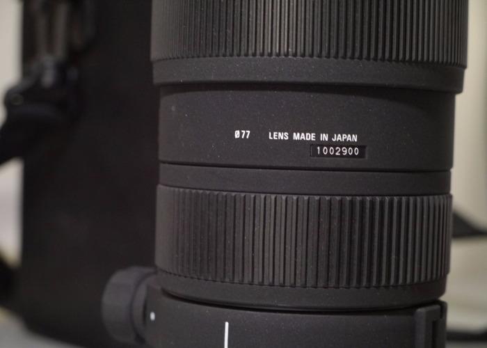 70-200 2.8 Sigma Lens Nikon Fit - 2