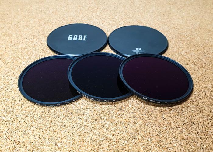77mm ND Filter Kit Gobe ND8, ND64, ND1000 MRC 16-Layer - 2