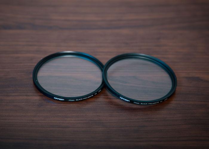 77mm Tiffen Black Pro Mist Filters (1/8 and 1/4) - 1