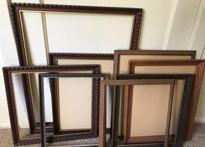 8 custom wood frames paintable - 1