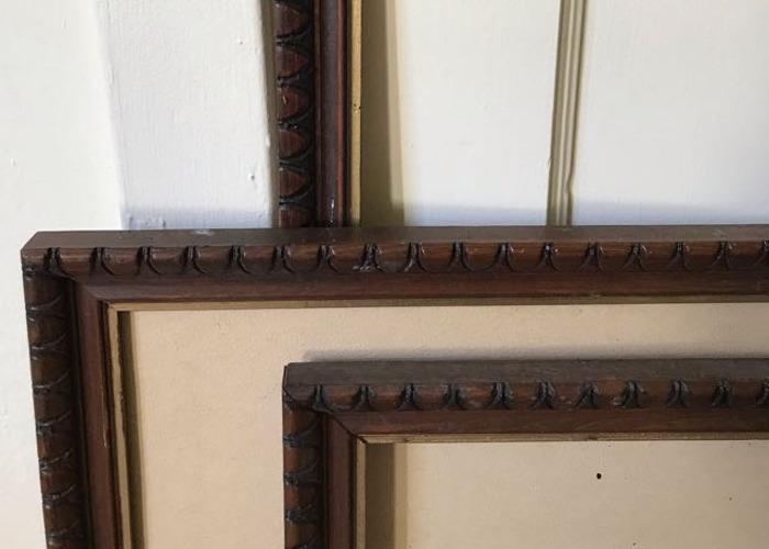8 custom wood frames paintable - 2