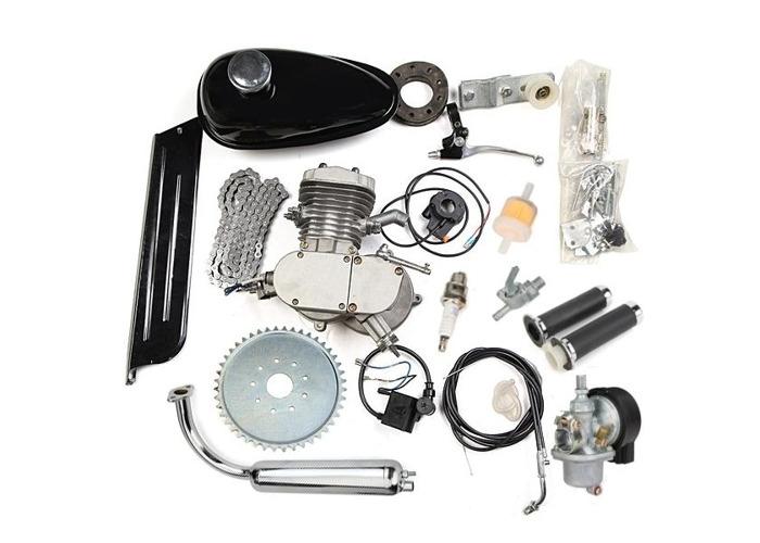 80cc 2 Cycle Motorcycle Muffler Motorized Bike Engine Accessories Set - 1
