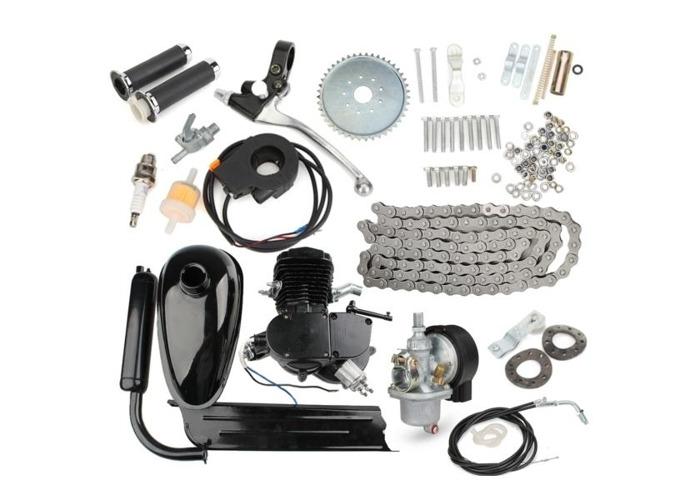 80cc 2-Stroke Cycle Motorized Bike Black Body Engine Motor Kit - 1
